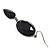 Black Tone Acrylic Drop Earrings - 7cm Drop - view 6