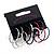 Set of 6 Metal Hoop Earrings (Silver, Gold, Black, White, Red, Blue) - 3cm Diameter
