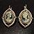Vintage Cameo Imitation Pearl Drop Earrings (Burn Silver) - view 5