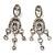 Stunning Clear Swarovski Crystal Chandelier Earrings (Silver Tone)