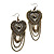Long Vintage Bead Chain Chandelier Earrings (Bronze Tone) - 9cm Drop