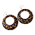 Leopard Print Acrylic Hoop Earrings (Silver Tone Metal) - 6cm Diameter - view 3
