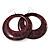 Animal Print Purple Acrylic Hoop Earrings (Silver Tone Metal) - 6cm Diameter
