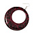 Animal Print Purple Acrylic Hoop Earrings (Silver Tone Metal) - 6cm Diameter - view 4
