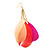 Multicoloured Feather Chain Dangle Earrings (Gold Tone Metal) - 11cm Lenght - view 5