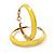 Bright Yellow Hoop Earrings (Gold Tone Metal) - 5cm Diameter