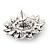 Burn Silver 'Sunflower' Diamante Stud Earrings - 3cm Diameter - view 7