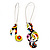 Multicoloured 'Musical Notes' Drop Earrings (Silver Tone Metal) - 7cm Length - view 6