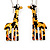 Funky Giraffe Drop Earring In Rhodium Plated Metal - 6cm Length - view 5