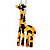 Funky Giraffe Drop Earring In Rhodium Plated Metal - 6cm Length - view 2