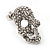 Small Dazzling Crystal Skull Stud Earrings In Silver Plating - 2cm Length - view 12