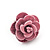 Tiny Light Pink 'Rose' Stud Earrings In Silver Tone Metal - 10mm Diameter - view 5