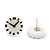 Funky Black/White Acrylic 'Clock' Stud Earrings - 17mm Diameter - view 5