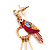 Funky Long Magenta 'Parrot' Feather Earrings In Gold Plating - 13cm Length - view 5