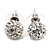 Clear Swarovski Crystal Ball Stud Earrings In Silver Plated Finish - 9mm Diameter