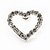 Clear Crystal Open 'Heart' Stud Earrings In Silver Metal - 2cm Length - view 7
