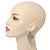 Open Cut Diamante 'Rose' Drop Earrings In Gun Metal Finish - 6.5cm Length - view 3