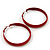 Medium Burgundy Red Enamel Hoop Earrings - 5.5cm Diameter - view 5