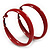 Medium Burgundy Red Enamel Hoop Earrings - 5.5cm Diameter - view 1
