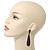 Luxury Deep Purple Swarovski Crystal Teardrop Earrings In Black Tone Metal - 7.5cm Length - view 5