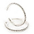 Classic Austrian Crystal Hoop Earrings In Rhodium Plating - 5.5cm D - view 8