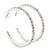 Classic Austrian Crystal Hoop Earrings In Rhodium Plating - 5.5cm D - view 2