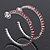 Large Burgundy Red Austrian Crystal Hoop Earrings In Rhodium Plating - 6cm Diameter