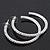 Classic Ice Clear Austiran Crystal Hoop Earrings In Rhodium Plating - 5.5cm D - view 3