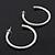 Classic Ice Clear Austiran Crystal Hoop Earrings In Rhodium Plating - 5.5cm D - view 7