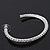 Classic Ice Clear Austiran Crystal Hoop Earrings In Rhodium Plating - 5.5cm D - view 5
