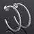 Classic Ice Clear Austiran Crystal Hoop Earrings In Rhodium Plating - 5.5cm D - view 9
