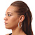 Classic Ice Clear Austiran Crystal Hoop Earrings In Rhodium Plating - 5.5cm D - view 2