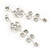 Clear Crystal Silvertone Flower Drop Earrings - 7.5cm Length - view 9