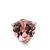 Classic Pink CZ 'Heart' Stud Earrings In Rhodium Plating - 11mm Diameter - view 8
