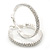 Rhodium Plated Clear Austrian Crystal Double-Hoop (Medium) - 38mm D - view 4
