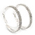 Rhodium Plated Clear Austrian Crystal Double-Hoop (Medium) - 38mm D - view 9