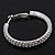 Rhodium Plated Clear Austrian Crystal Double-Hoop (Medium) - 38mm D - view 6