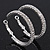 Rhodium Plated Clear Austrian Crystal Double-Hoop (Medium) - 38mm D - view 10