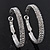 Rhodium Plated Clear Austrian Crystal Double-Hoop (Medium) - 38mm D - view 8