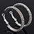Rhodium Plated Clear Austrian Crystal Double-Hoop (Medium) - 38mm D - view 2