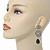 Grey Swarovski Crystal and CZ Teardrop Chandelier Earrings In Silver Plating - 60mm Length - view 3