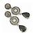 Grey Swarovski Crystal and CZ Teardrop Chandelier Earrings In Silver Plating - 60mm Length - view 2