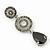 Grey Swarovski Crystal and CZ Teardrop Chandelier Earrings In Silver Plating - 60mm Length - view 4