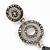 Grey Swarovski Crystal and CZ Teardrop Chandelier Earrings In Silver Plating - 60mm Length - view 6