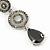 Grey Swarovski Crystal and CZ Teardrop Chandelier Earrings In Silver Plating - 60mm Length - view 7