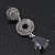 Grey Swarovski Crystal and CZ Teardrop Chandelier Earrings In Silver Plating - 60mm Length - view 8