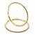 Clear Crystal 'Hoop' Earrings In Gold Plating - 5cm D