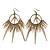 Oversized Spike Hoop Earrings In Bronze Tone - 10.5cm Length
