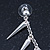 Hanging Spiked Cuff Earring In Silver Plating - view 4