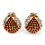 Children's/ Teen's / Kid's Small Red Enamel Crystal 'Ladybug' Stud Earrings In Gold Plating - 10mm Length
